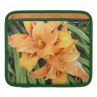 Orange Daylilies Sleeve For iPads