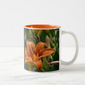 Orange Daylily & Raindrops Flower Photo Coffee Mug