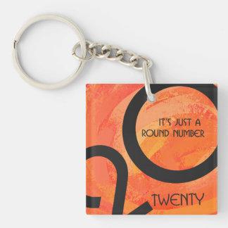 Orange Decade Birthdday Keychain