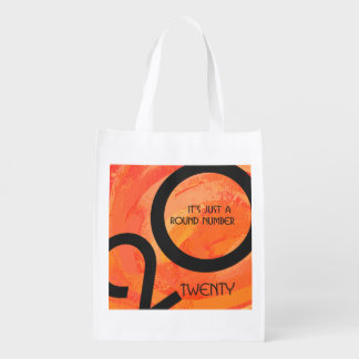 Orange Decade Birthdday Reusable Grocery Bags
