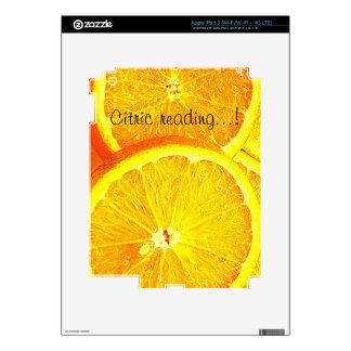 Orange Decal For iPad 3