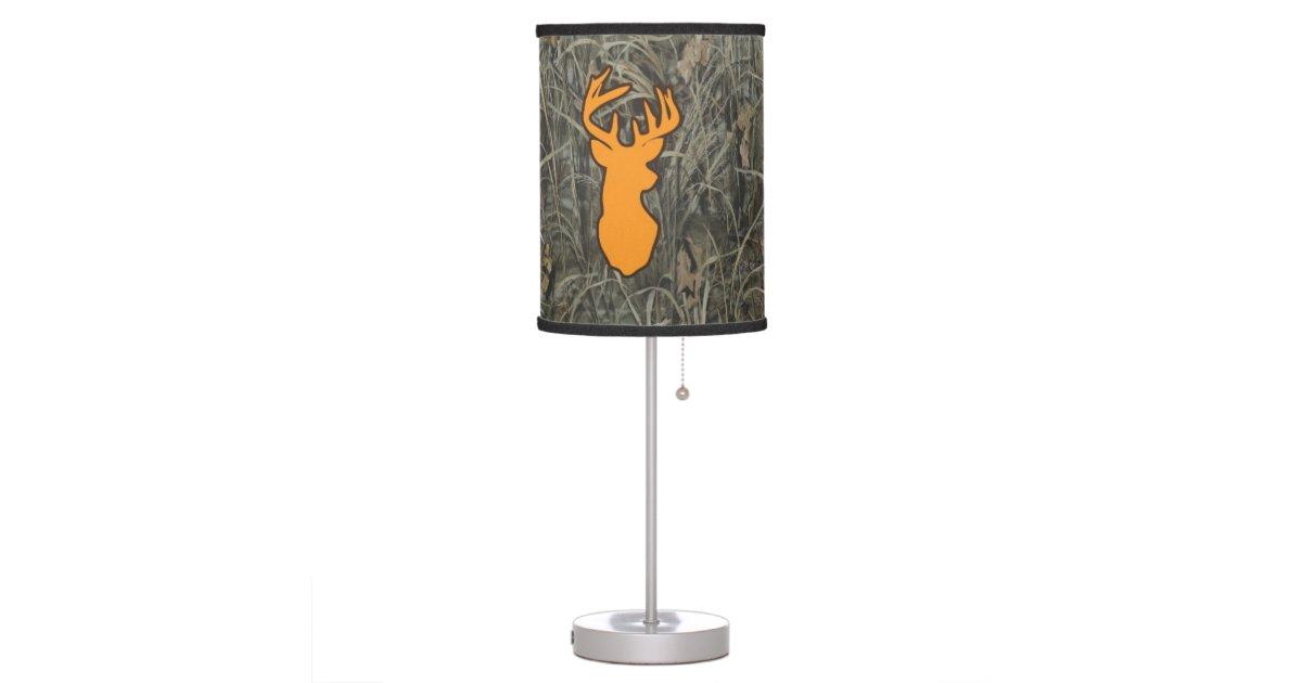 Orange Deer Camo Home Decor Lamp Zazzle