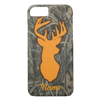 Orange Deer Head Camo iPhone 7 case