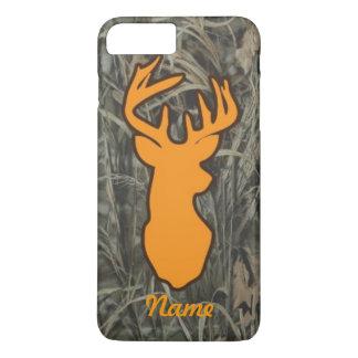 Orange Deer Head Camo iPhone 7 plus case