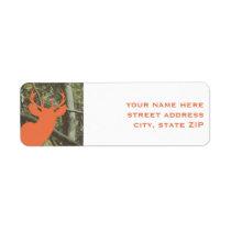 Orange Deer Hunting Camouflage Address Labels