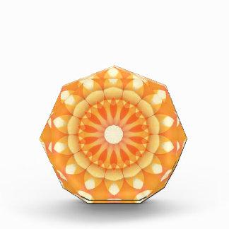 Orange Delight Flower Kaleidoscope Acrylic Award