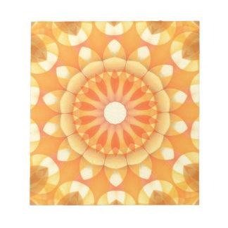 Orange Delight Flower Kaleidoscope Note Pad