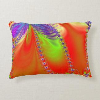 Orange Delight Fractal Accent Pillow