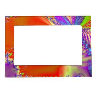 Orange Delight Fractal Magnetic Frame