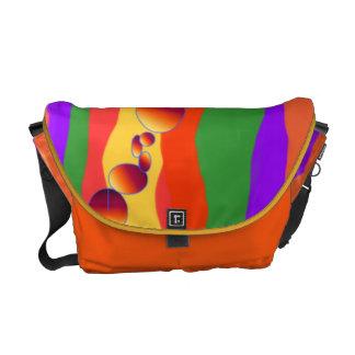 Orange Delight Rickshaw Messenger Bag