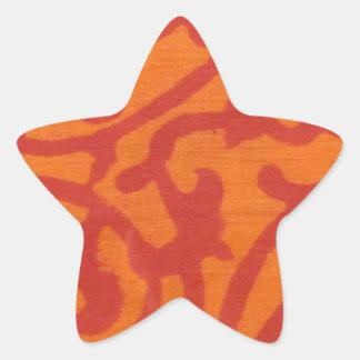 Orange Delight Star Sticker
