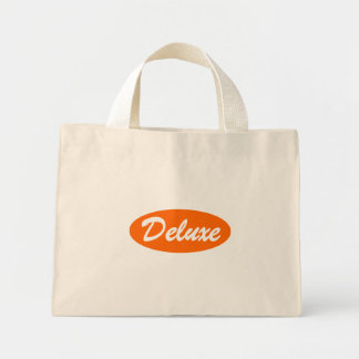 Orange Deluxe Mini Tote Bag