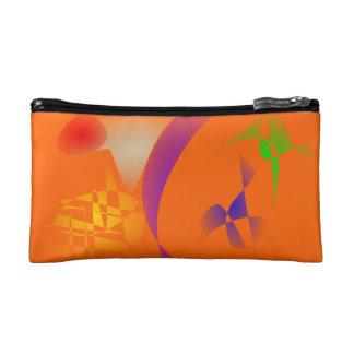 Orange Desert Band Cosmetic Bag