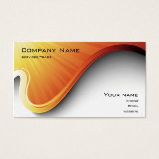 orange design business card