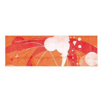 Orange designed vector mini business card