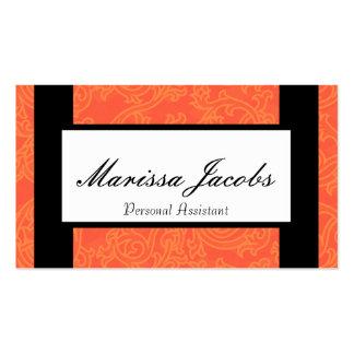 Orange Details Personal Assistant Business Card