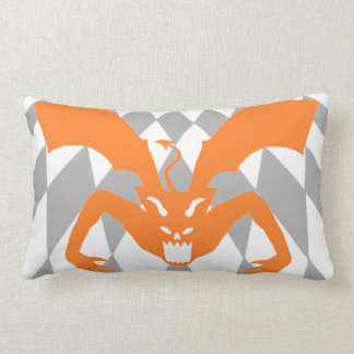 Orange Devil Lumbar Pillow