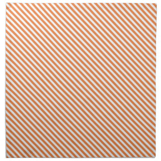 Orange Diagonal Lines Cloth Napkin