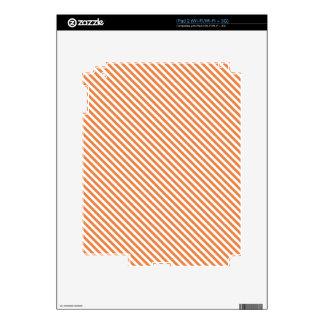 Orange Diagonal Lines iPad 2 Decals