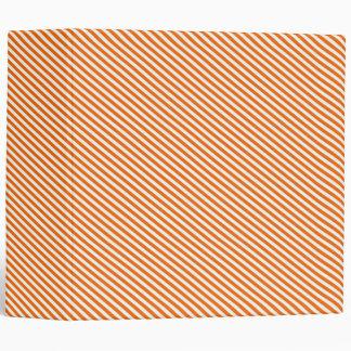 Orange Diagonal Stripes 3 Ring Binder