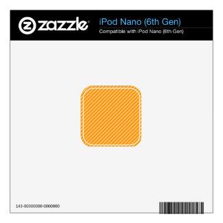 Orange Diagonal Stripes; Striped iPod Nano 6G Skins