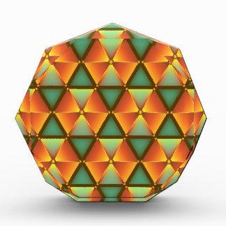 Orange diamond pattern acrylic award