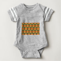Orange diamond pattern baby bodysuit