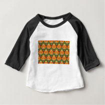 Orange diamond pattern baby T-Shirt