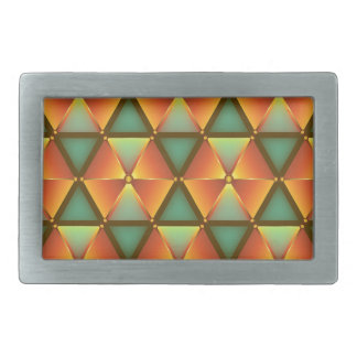 Orange diamond pattern rectangular belt buckle
