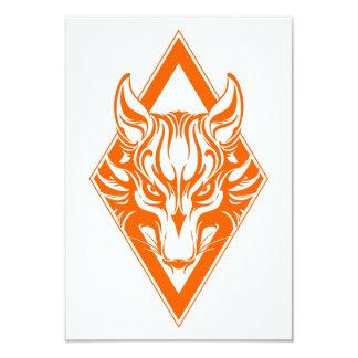 Orange Diamond Wolf Face Graphic Announcements