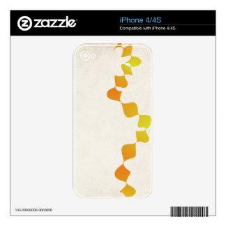 orange diamonds decals for the iPhone 4