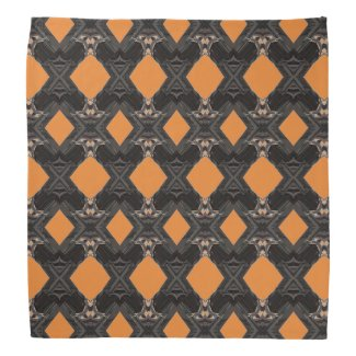 Orange Diamonds Designed Bandana