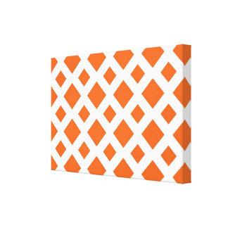 Orange Diamonds on White Canvas Print