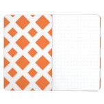 Orange Diamonds on White Journal