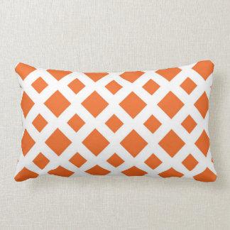 Orange Diamonds on White Pillows