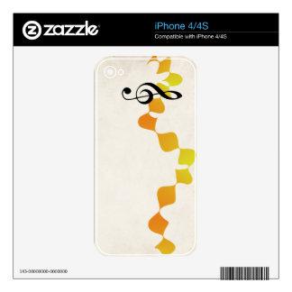 orange diamonds violin key skin for the iPhone 4S