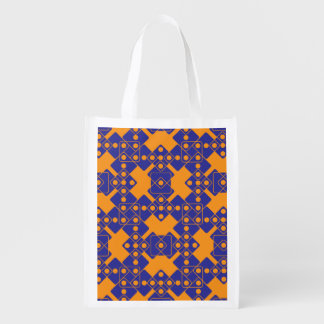 Orange Dice Grocery Bag