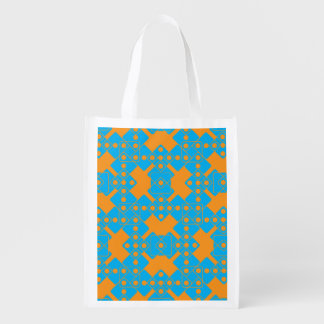 Orange Dice Reusable Grocery Bag