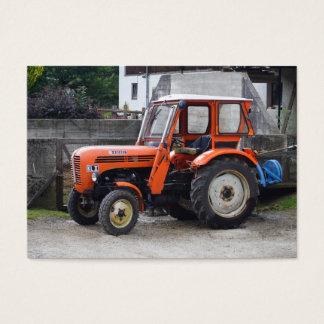 Orange Diesel Tractor Steyr KL II Business Card