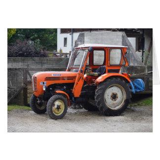 Orange Diesel Tractor Steyr KL II Card