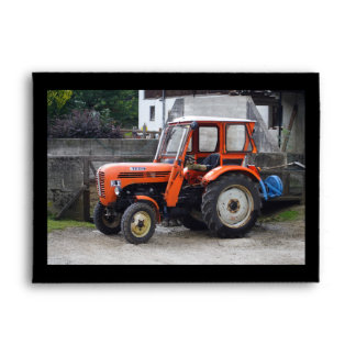 Orange Diesel Tractor Steyr KL II Envelope