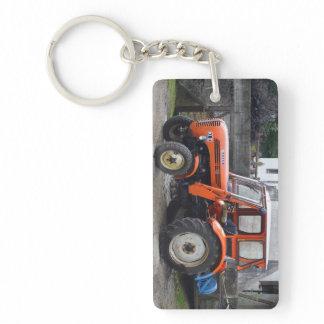 Orange Diesel Tractor Steyr KL II Keychain