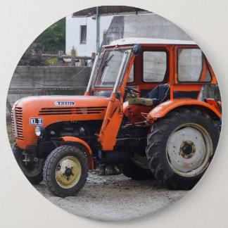 Orange Diesel Tractor Steyr KL II Pinback Button