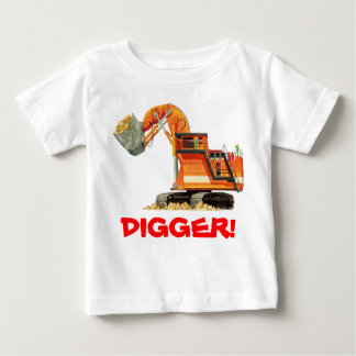 Orange Digger Baby T-Shirt