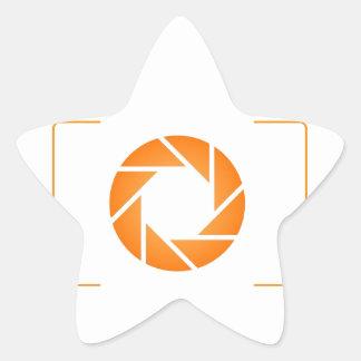 Orange Digital camera Star Sticker