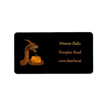 Halloween Themed Orange Dinokonda Label