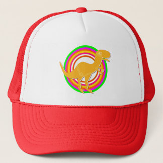 Orange Dinosaur T-Rex Trucker Hat