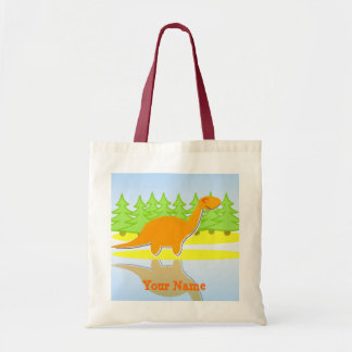 Orange Dinosaur Trees & Water Bag/ Tote