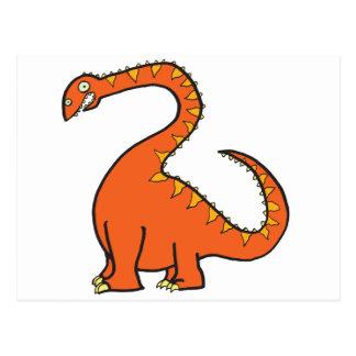 Orange Diplodocus Postcard