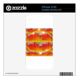 Orange Disco Ball Pattern Skin For The iPhone 4